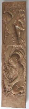 Jan Hana - Relief with boy and girl