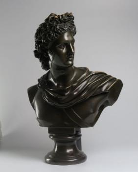 Bust - patinated bronze - 1890