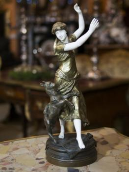 Sculpture - bronze, ivory - Edouard Moussin - 1900