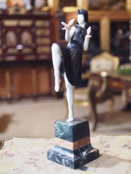 Dancer - bronze, marble - Paul Philippe - 1900